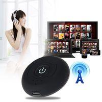 usb drahtloser videoadapter großhandel-1x2 Splitter Mehrpunkt Wireless Audio Bluetooth Sender Musik Stereo Dongle Adapter für TV Smart PC DVD MP3 H-366T Bluetooth 4.0 A2DP