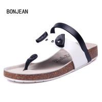 Wholesale t cork - Women Sandals Cork Slippers Cartoon Shoes Flip Flops Slippers Beach Sandals Summer Zapatos Mujer Sandalia Slides Plus Size 35-42