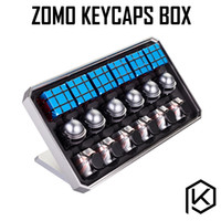 Wholesale cnc body - ZOMO Aluminum & Acrylic Artisan Collector Box CNC anodized aluminum body can holds 18x 1U keycaps only keycaps box