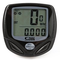 Wholesale multi function lcd speedometer computer resale online - SunDing SD C Water Resistant Wireless LCD Bicycle Computer Odometer Speedometer Easy to install firmly with mounting accessories