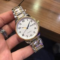 Wholesale fashion watch ice online - Longe Mens watches fashion new style famous brand Men Mechanical Stainless Steel Automatic wristwatch Movement Watch iced out Stopwatch