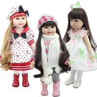 ingrosso bambole da collezione di vinile 18 pollici-Lovely 45cm Vari stili Bambola per ragazza americana da 18 pollici di alta qualità in vinile da collezione sorridente Fata per bambini Giocattoli Principessa per bambini Bambola fai da te