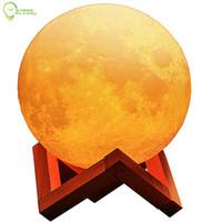 ingrosso lampada del port del usb-Stampa 3D luna 15 cm lampada per la decorazione interna 18 cm globo 3D simulazione di illuminazione luna porta USB lampade a led
