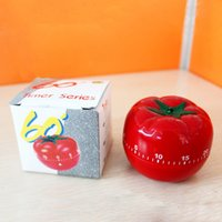 minutero al por mayor-60's Cute Kitchen Timer Tomato Cooking Timer Counter Alarm Útil Chic 1-60min 360 Degree Kitchen Alarm Timer de cuenta regresiva mecánico