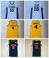 a8fc276c69c Camisetas de baloncesto para hombre 55 Chocolate blanco Jason Williams 4  Chirs Webber 16 Peja Stojakovic 10 Jersey barato de Mike Bibby College  cosido