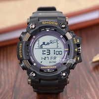digitales handgelenk großhandel-Luxus sport g uhr männer analog digital military silikon armee sport led armbanduhren prw männer ga100 110 schock uhr relogio masculino