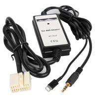 автомобильный аудиоадаптер usb оптовых-3.5 мм автомобиль Aux адаптер кабель аудио-плеер интерфейс с iPhone USB аудио цифровой диск коробка для Honda Accord Civic Odyssey