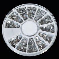 acryl strass diamant geformt großhandel-Acryl Nail Art Tipps 6 Stil Bunte Kristall Glitter Nail Shaped Diamond Mixed Art Fall Set 1 Box Strass Dekoration