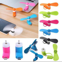 Wholesale portable cooler fan - Mini Micro Portable USB Mobile Phone Fan For Android Samsung Phone Cooling Fan Party Favor OOA5061