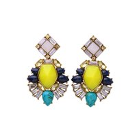 Wholesale Diamond Dangle - Simple Diamond Studded Earrings Accessories Wild Cool High-end Jewelry Earrings New