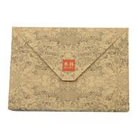 бумага закка оптовых-Retro Kraft Paper Envelope Postcard Greeting Card Cover Brown Kraft Paper Envelope Stationery Zakka School Supplies 10pcs