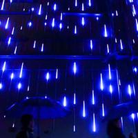 душевые кабины оптовых-Метеор душ дождь Свет, Мерцание Romantic огни для партии, свадьба, Рождество, etc.11.8inch 8 Tubes (синий)