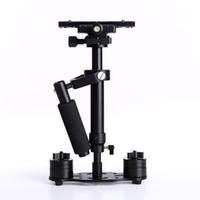 estabilizador de câmara video camcorder steadicam venda por atacado-DHL S40 40 cm Handheld Estabilizador Steadicam Profissional para Camcorder Câmera Digital de Vídeo Canon Nikon Sony DSLR Mini Steadycam