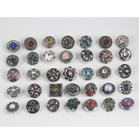 Wholesale noosa necklace diy for sale - Group buy 50PCS mm Noosa Button Jewelry Rhinestone Loose Beads Mixed Style Fit For Bracelets Necklace Fashion Jewelry DIY Accessories
