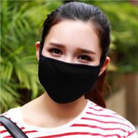 moda solunum maskeleri toptan satış-Yeni Moda pamuk ipliği Ağız Yüz Maskesi Bisiklet Giyen Windproof Anti Toz Anti-kirliliği Respiratör Siyah Maske