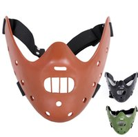 Wholesale resin masks jester resale online - Cos The Silence of the Lambs Movie Themed Collection Resin Mask Lower Half Face Masquerade Party Mask for Halloween