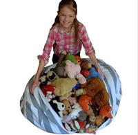bebek bebek çantası toptan satış-50 adet 16 inç Depolama Fasulye Torbaları Beanbag Sandalye Çocuk Odası Dolması Hayvan Organizatör Peluş Oyuncaklar Buggy Çanta Bebek Oyun Mat