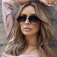 290669ba7f1 Fashion Pilot Sunglasses Women 2018 Brand Designer Luxury Mirror Sun Glasses  High Quality Lady Shades Oversized Eyewear Female Oculos