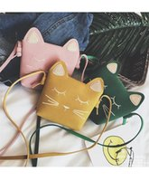Wholesale princess children handbag - Cute Cat Children Bags Korean Cat Ear Princess Mini Children Messenger Bag Fashion Casual Change Purse Kids handbag B11