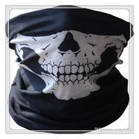 röhrengesicht halsmaske großhandel-Neue Radfahren Masken Funktion Bandana Headwear Schädel Bandana Motorrad Helm Neck Half Face Masken Motorrad Fahrrad Schwarz Tube Masken