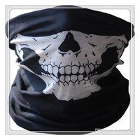 fonction vélo achat en gros de-Nouveau Cyclisme Masques Fonction Bandana Chapeaux Crâne Bandana Moto Casque Cou Demi Visage Masques Moto Vélo Vélo Black Tube Masques