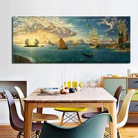 Wholesale abstract ocean art canvas - vladimir kush mythology of the oceans and heavens.Canvas Oil Painting HD Print Wall Art Decor for Living Room Home Decoration Framed Unframe