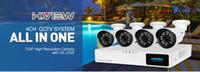 tvl kitleri toptan satış-H. View 4CH CCTV Sistemi 720 P HDMI AHD CCTV DVR 4 ADET 1.0 MP IR Açık Güvenlik Kamera 1200 TVL Kamera Gözetim Kiti