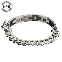 цепи германия оптовых-Noproblem 049  therapy energy easy-hook silver metal chain choker tourmaline germanium bracelet