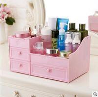 modernas camas de armazenamento venda por atacado-Gaveta tipo caixa de armazenamento de cosméticos produtos de cuidados da pele de plástico compartimento dresser cômoda rack de armazenamento de desktop dormitório
