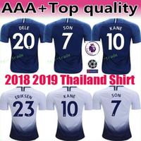 682e78c1a 18 19 Season Soccer 19 DEMBELE Jersey Hot Spur 23 ERIKSEN 12 WANYAMA MOURA  LLORIS Football Shirt Kits Custom Name Number Blue White