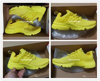 Wholesale Yellow Kids Sneakers - New Arrival 2017 Air Presto Running Shoes Kids Men Women High Quality Yellow Outdoor Fashion Jogging Sneakers Athletic Shoes Size EUR 36-46