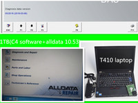 dizüstü bilgisayar sabit diskleri toptan satış-Yeni 10.53 alldata ve çok dilli c4 soft-ware oto tamir 2in1 1 tb sabit disk yüklü sürüm t410 ile 4g laptop rüzgar