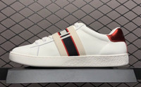 Wholesale belt women shoes for sale - Group buy 2018 Designer shoes Belt ace white Luxury embroidered white tiger bee fish shoes Genuine Leather Designer Sneaker Mens Women Casual Shoes