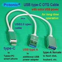hdd kabloları toptan satış-Harici şarj özellikli USB3.1 Tip-C OTG Kablo Macbook USB-C mobil HDD flaş disk sürücüsü için ek etra şarj gücü