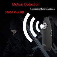 ingrosso macchina fotografica completa del corpo-2018 Mini macchina fotografica Full HD 1080P Full HD Body Worn Pen Micro Camcorder Audio Video Registratore auto Rilevazione movimento Secret Small Cam