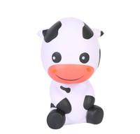 neuheit quetschen großhandel-PU Kuh Squishy Langsam Rebound Dekompression Spielzeug Schöne Cattle Form Squishies Squeeze Spielzeug Neuheit Kinder Geschenke 13 5 mz C