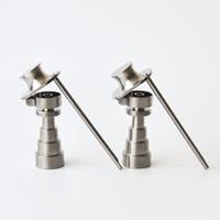 18mm titanyum banger çivi toptan satış-6 IN 1 Beyefendi Şapka Tarzı Titanyum Tırnak 10mm14mm18mm gr2 titanyum banger kaliteli en iyi fiyat ücretsiz kargo
