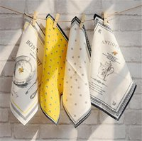 servilletas de mesa de restaurante al por mayor-Servilletas de algodón puro Servilleta de lino de estilo europeo uso de restaurante estera