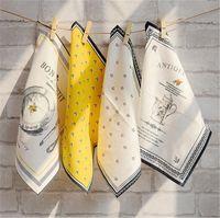 ingrosso biancheria utilizzata-Tovaglioli in puro cotone uso cucina ristorante in lino stile europeo