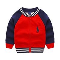 winter für kinder großhandel-Neue Kinder Top Kleidung Baumwolle Baby Pullover Hohe Qualität Kinder Oberbekleidung Mädchen Pullover Junge Pullover V-Ausschnitt Pullover Mantel