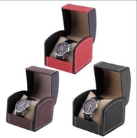 wrist watch gift box оптовых-Одна сетка кожа часы витрина организатор подарочная коробка ювелирных изделий коробка для хранения упаковки для браслет Браслет Ooa4609