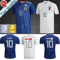 Wholesale wholesaler japan - Japan Soccer Jersey 2018 world cup 4 HONDA 5 NAGATOMO 9 OKAZAKI 10 KAGAWA Football Shirts 17 HASEBE ATOM TSUBASA Uniform Blue