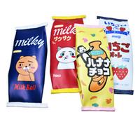 deri kalem kutusu kozmetik çantaları toptan satış-Sevimli Yaratıcı deri kalem kutusu simülasyon süt kalem çanta çocuklar için kawaii sikke çanta kozmetik çantası hediye