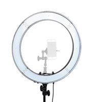Wholesale cameras photographic for sale - 18 Inch W K LED Photographic Lighting Dimmable Camera Photo Studio Phone Photography Ring Light Lamp