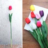ingrosso piantare piante di tulipani-Tulipano Simulazione Fiore Festa di compleanno Tavolo Decorazione Camera da letto matrimoniale Fiori Piante Soggiorno Festival Fiori Decori Nave libera