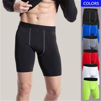 ingrosso biancheria intima-Nuovi pantaloncini da corsa per uomo Fitness Gym Jogger Pantaloni corti Abbigliamento a compressione rapida Abbigliamento aderente Ciclismo Underwear Plus Size XXXL