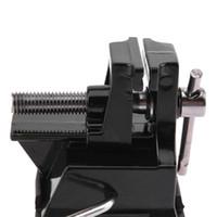 tezgah mektubu toptan satış-Ayarlanabilir Minyatür Tezgah Mengene Profesyonel Kauçuk Alüminyum Tezgah Masa Vise Vantuz El Yapımı Holding Aracı ile