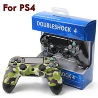Wholesale PS4 controllers Wireless Controller Game Controllers Double Shock playstation PS with retail box H JYP