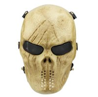 Wholesale mask movie props online - Christmas Full Face Masquerade Eco Friendly Horror Skull Protect Mask Movie Prop Airsoft Plastic Flexible Payty Mask CCA10281