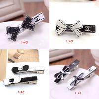 acryl barrettes großhandel-Mode Schwarz Weiß Emaille Bowknot Haarspangen Acryl Blume Haarspangen Haarspange Charme Ente Clips Haarschmuck